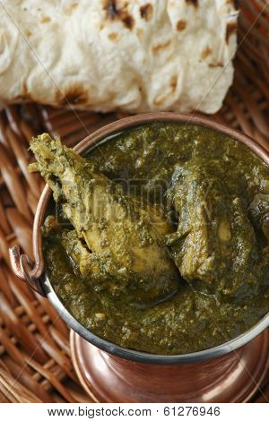 Saag Chicken is a north Indian vegetable