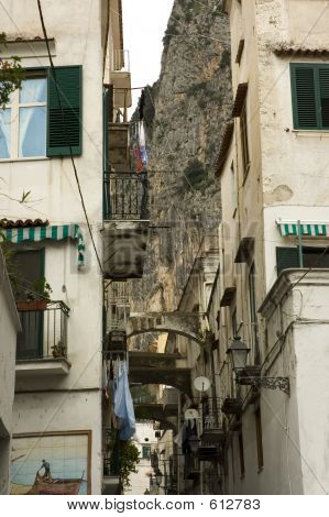 Typical Narrow Street Of Italy
