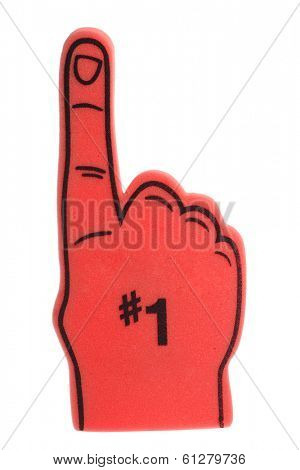 red foam finger with #1