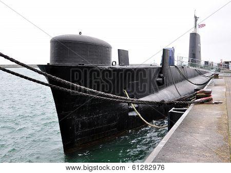 Submarine in dock
