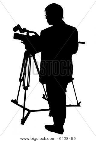 Camera and man