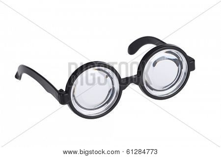 Nerd glasses cutout, isolated on white background