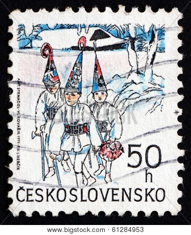 Postage Stamp Czechoslovakia 1991 Three Kings, Christmas