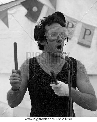 Billy Barrington of Django Spears at the Apple Festival
