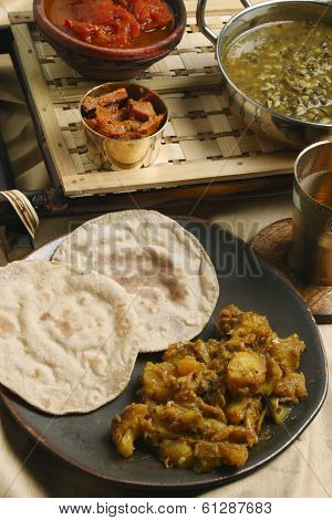 Panch Pooran Tarkaari - Indian Five vegetable Mix.