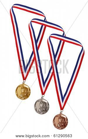 Gold, Silver, and Bronze Medals