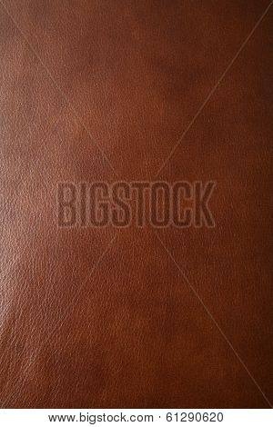 closeup of leather