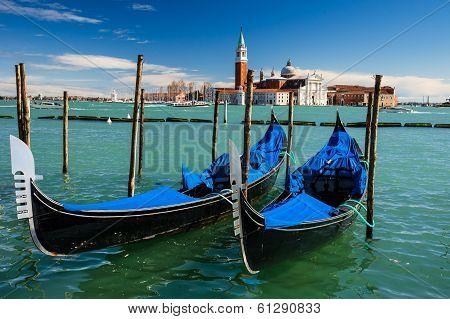 Gondolas Piazza San Marco, Venice, Italy