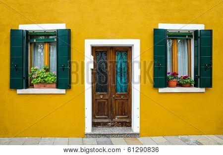 Burano House Facade, Venice
