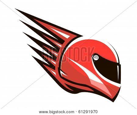 Racing helmet with speed spikes