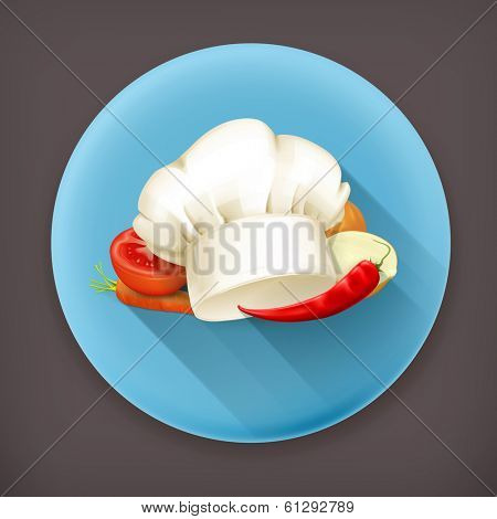 Cooking, long shadow vector icon