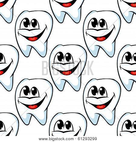 Repeat pattern of happy healthy teeth