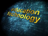 Education concept: Education Technology on digital background