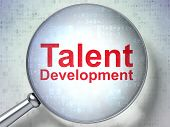 Education concept: Talent Development with optical glass
