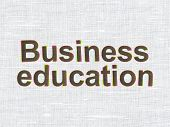 Education concept: Business Education on fabric texture background