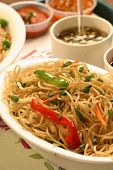 Chow mein is a Chinese term for stir-fried noodles poster