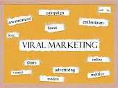 Viral Marketing Corkboard Word Concept