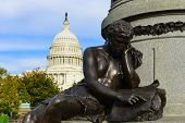 Capitol, Washington DC, detail from The James A. Garfield Monument