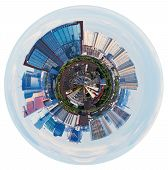 Spherical View Of Moscow With Tower Buildings