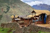 Houses In Mountains In Peru