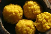 picture of bengal-gram  - Mihidana - a besan or gram flour based sweet which is a popular in Bengal, India