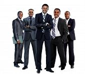 picture of work crew  - african american business team - JPG