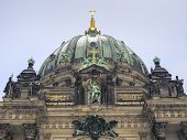 picture of dom  - central fragment of famous Berliner Dom building in German capital - JPG