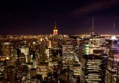 foto of empire state building  - New York from the top of Rockefeller Center - JPG