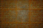 wall orange tone brick