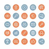 Seo Services Flat Icons Set