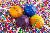 stock photo of cake pop  - Decorating cake pops - JPG