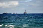 stock photo of offshore  - Offshore Oil Platform Las Palmas de Gran Canaria Spain - JPG