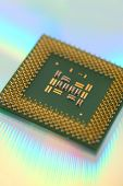 stock photo of microchips  - CPU processor computer microchip - JPG