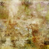 art abstract acrylic background in beige, green and brown colors