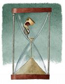 man in hourglass