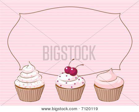 Various cupcake place card