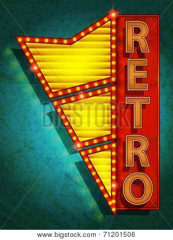 retro icon - signboard