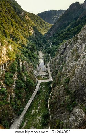 View from Vidraru dam, Romania