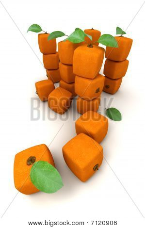 Composition With Piles Of Cubic Oranges