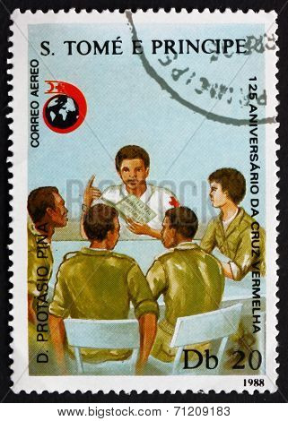 Postage Stamp Sao Tome And Principe 1988 Instructing Workers