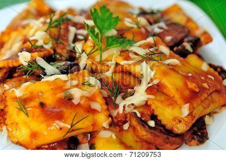 Plate With Ravioli