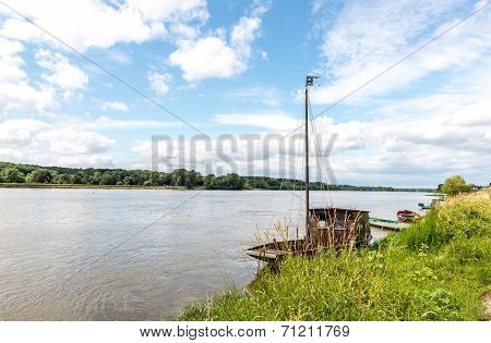 Loire River Near Saint Clement Des Levees(france)