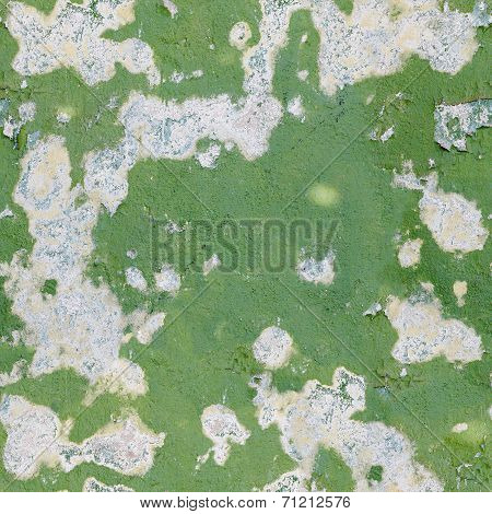 Green Old Paint On A Concrete Wall - Seamless Background