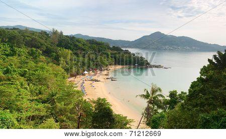 Laem Sing Beach, Phuket Island, Thailand. Top View