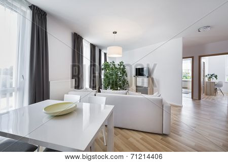 Open Space, Modern Interior Design Living Room