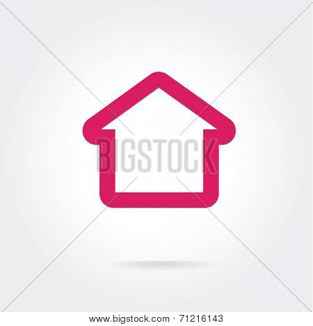 House vector icon isolated on white