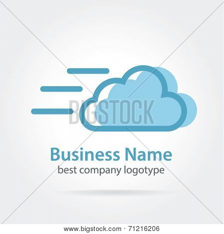Vector fast cloud icon logotype