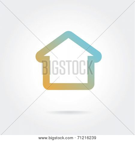 Vector house icon  isolated on white background