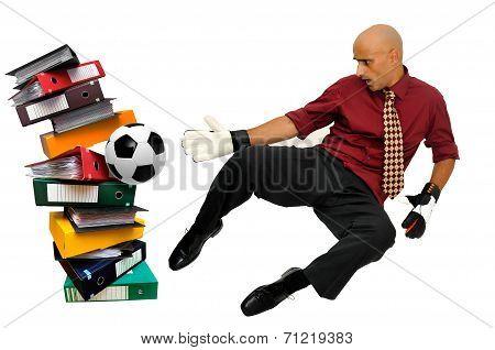 Businessman Goalkeeper