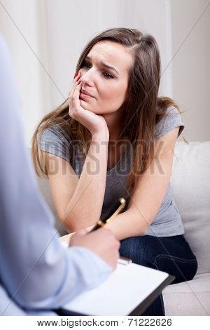 Therapist Conducting An Interview With Patient